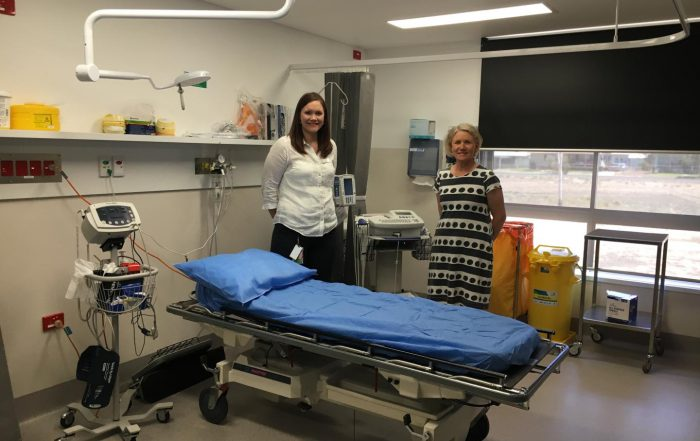 Cunnamulla Hospital Director of Nursing and Facility Manager Tracey-lee Maher – left – with