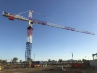 The crane at the new Roma Hospital Redevelopment site.